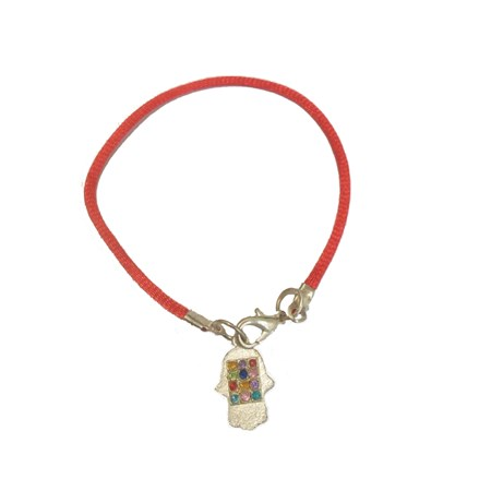 Pulseira fio vermelho hamsa 12 tribos