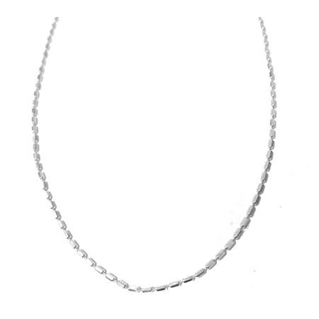 Corrente de prata canutilho espelhada