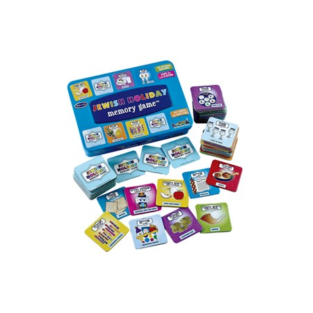 Jewish holiday memory game em lata