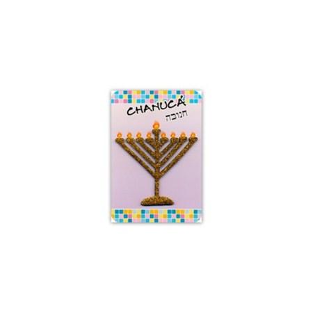 Cartão Chanucá com Chanukia