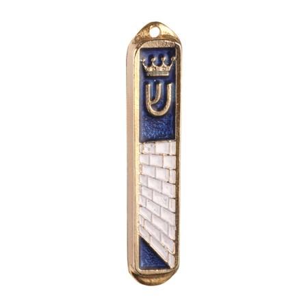 Mezuzá simbólica para carro esmaltada - Azul