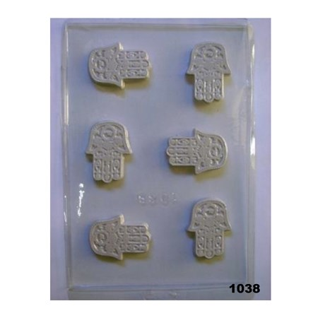 Forma chocolate LETRAS e HAMSA - Hamsa pequena (1038)