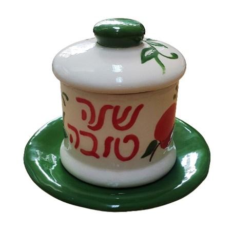 Meleira Shaná Tová de cerâmica verde
