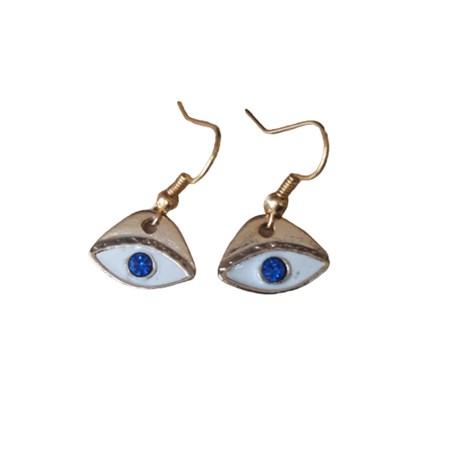 Brinco dourado olho grego