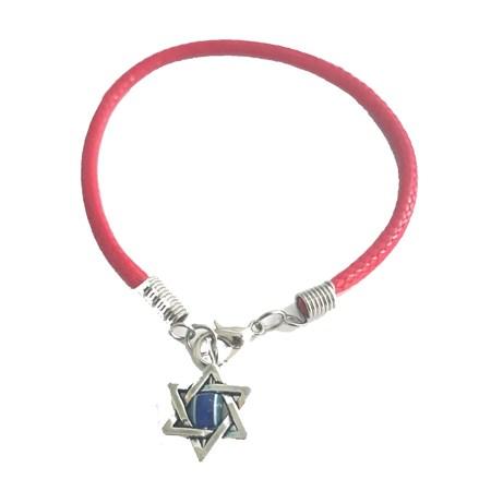 Pulseira vermelha com estrela de David