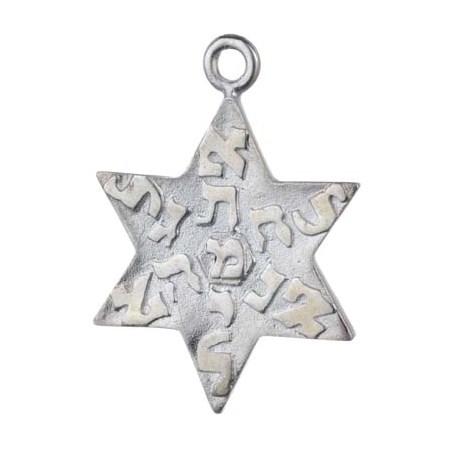 Pingente Estrela de David de prata (6692)
