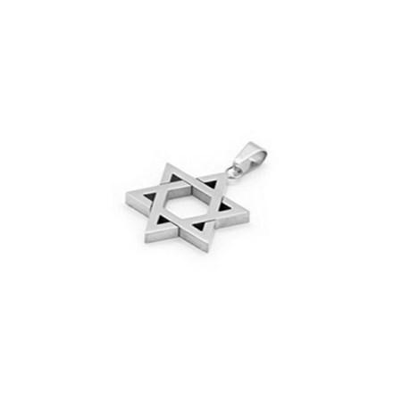 Pingente estrela de David de prata - grossa