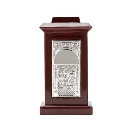Caixa de Tsedacá de madeira Jerusalém