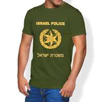 Camiseta Israel Police (verde) - Tamanho G
