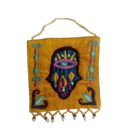 Banner de tecido Hamsa bordada