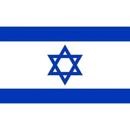 Bandeira adesiva de Israel - 100 unidades