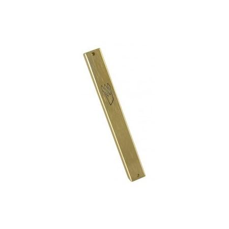 Mezuzá de alumínio 10 cm. - Dourado