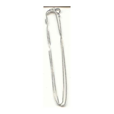 Corrente de prata veneziana - Veneziana fina 60 cm