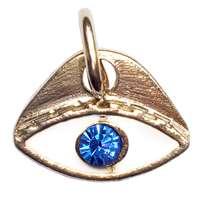 Pingente olho grego esmaltado - prateado