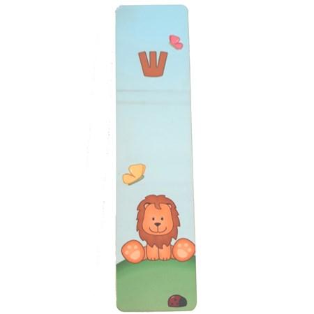Mezuzá infantil madeira leãozinho