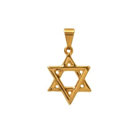 Pingente Estrela de David dourada