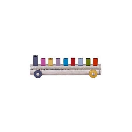 Chanukiá tubo multicolor (EMANUEL)
