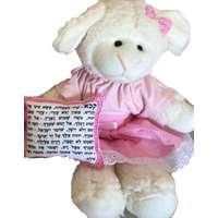 Ovelhinha rosa com almofadinha Shir Hamaalot