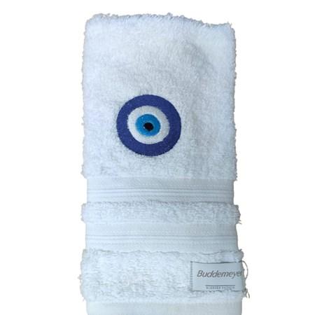 Toalha de Lavabo felpuda olho grego