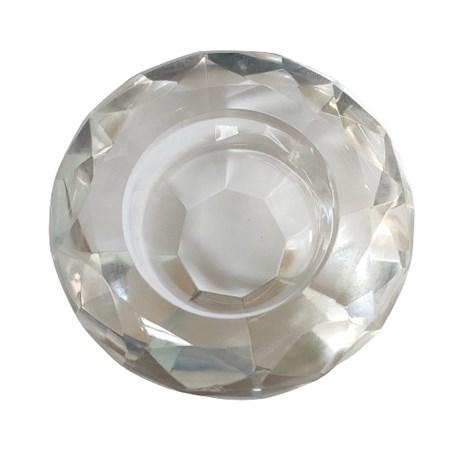 Porta velas de vidro - Diamante