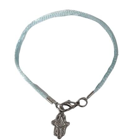 Pulseira fio azul hamsa