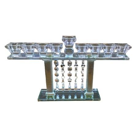 Chanukiá de cristal 21 cm