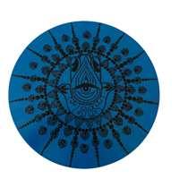 Mandala colorida pequena - Azul e preta com Hamsa grande